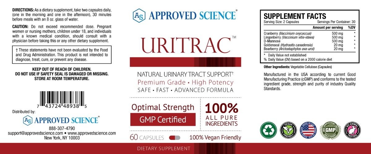Uritrac Supplement Facts